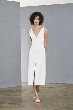d211f0338fa6 LW134 - Crepe Slim Dress. White Dress FallLittle White DressesAmsale ...