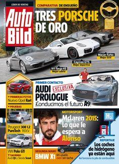 Revista #Autobild 466, #diciembre '14. 3 #Porsche de oro. #McLaren 2015, lo que le espera a #Alonso.