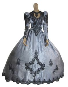 Gothic Steampunk Victorian Ball Gown Wedding Dress Rococo Masquerade Fantasy WOW I have a dress like that just need to dye it