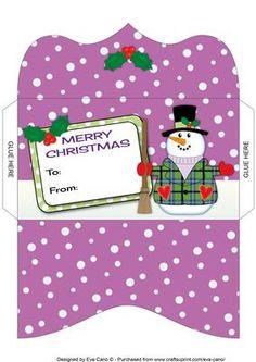 Snowman Money Wallet 4 on Craftsuprint - Add To Basket!