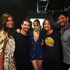 Jeff Gordon and Ingrid with the American Idol judges