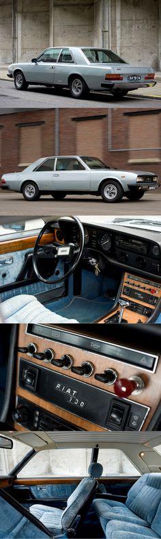 1974 Fiat 130 Coupé / Paolo Martin @ Pininfarina / Italy / silver blue / 17-277