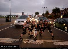 How derby girls commute - with the Bay Area Derby Girls.