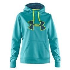 under amour womens hoodie intensity | Under Armour Women's Storm Fleece Intensity Big Logo Hoodie - Polyvore