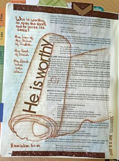 Revelation 5:1-10 Daily Life - Bits & Pieces: Bible Journaling Word Challenge