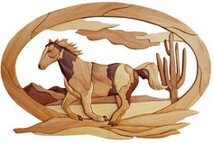 Intarsia Woodworking PATTERN HORSE by GielishWoodSculpture                                                                                                                                                                                 More