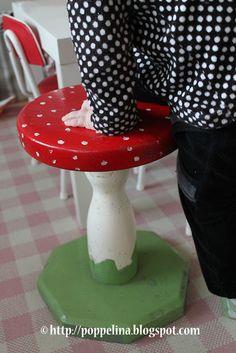 Poppelina: retro, mushroom