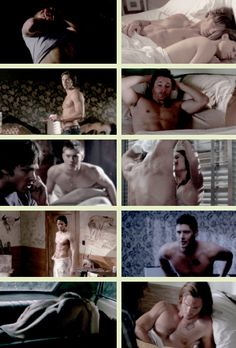 [GIFSET] Sam and Dean shirtless. Merry Christmas and Happy Holidays to all my followers :D