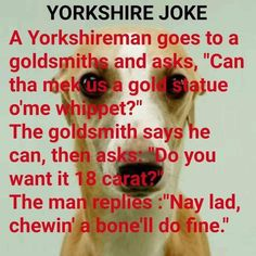 OMG, this is hilarious but probably only if you can listen to it in your head with a good West Yorkshire accent! Yorkshire Slang, Yorkshire Sayings, Haha Funny, Funny Jokes, Lol, Funny Stuff, Funny Things, Hilarious, Yorkshire England