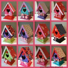 Vogelhuisjes Pimpen bij Pimp&T in Oostelbeers vanaf 6 jaar ben je van harte welkom in mijn fantastisch atelier www. Birdhouse Craft, Birdhouse Designs, Birdhouses, Decorative Bird Houses, Bird Houses Painted, Fun Crafts For Kids, Diy And Crafts, Paper Crafts, Bird Boxes