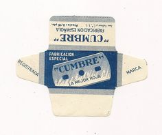 CUMBRE (2)  VINTAGE SAFETY RAZOR BLADE WRAPPER. LAMA. RASIERKLINGE.
