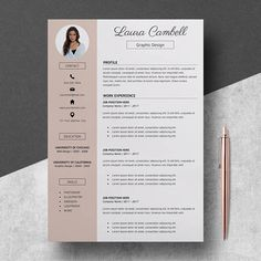 Modern Resume Template CV Template for MS Word Professional Resume Design Res If you like this design. Check others on my CV template board :) Thanks for sharing!Modern Resume Template CV Template for MS Word Professional Resume Design Res Cv Tips, Resume Tips, Resume Cv, Resume Writing, Resume Examples, Resume Form, Template Cv, Modern Resume Template, Cover Letter Template