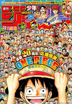 Shonen Jump Issue One Piece! Anime One Piece, One Piece Fanart, Maid Sama, One Piece World, One Piece Images, Manga Covers, Nisekoi, Anime Crossover, Fan Art