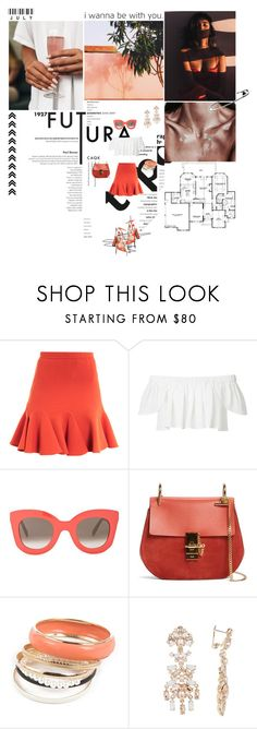"""""""I wanna be with you."""" by miky94 on Polyvore featuring moda, Behance, Carven, CÉLINE, Chloé, Marchesa e Alejandro Ingelmo"""