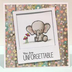 MFT / My Favorite Things - Adorable Elephant - www.clairmatthews.com .