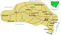 nice Map of Riverina