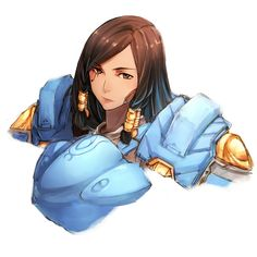 overwatch pharah (overwatch) fareeha amari high resolution very high resolution 1:1 aspect ratio 1girl armor bangs bodysuit braid brown eyes brown hair dark skin eyebrows eyebrows visible through hair eye of horus facial mark facial tattoo hair tubes lips long hair looking at viewer parted bangs parted lips pauldron portrait power armor power suit shoulder pads side braids simple background solo tattoo tied hair twin braids upper body white background yan wen zi