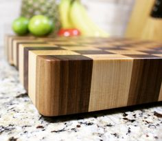 Walnut and hard maple End Grain Cutting Board. Govarollc.com etsy.com/shop/govaro #wood #woodwork #woodworking #handmade #handcrafted #cuttingboard #kitchen #kitchendesign #kitchendecor #endgraincuttingboard