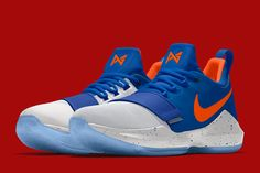 With Paul George recently becoming a member of the Oklahoma City Thunder, Nike iD has created new team themed color options for the The iD shoe is Tenis Basketball, Top Basketball Shoes, Sports Shoes, Basketball Outfits, Ankle Sneakers, Sneakers Nike, Paul George Shoes, Lit Shoes, Sneaker Magazine