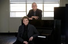 harmony musical barry manilow | Singer-songwriter Barry Manilow, front, and writing partner Bruce ...