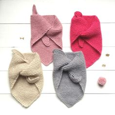 Easy Baby Knitting Patterns, Knitting For Kids, Crochet Bebe, Knit Crochet, Tricot Baby, Ribbon Bookmarks, Baby Couture, Handmade, Chiffons