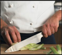 focus in on knife at work