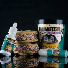 @creamvapeco If you like cookies or ice cream then you're gonna fall in love with Monster by @creamvapeco.  Monster is the perfect blend of Cookie Dough Ice Cream covered in Rainbow sprinkles then sandwiched between Macadamia Nut cookies. Follow @creamvapeco and tag your local shop if you want to try this 30ml bottle of Monster which also comes with 1 spare 15ml unicorn bottle and a coupon (when you collect 9 you get a package for FREE). #creamvapeco #icecreamsandwhichvape #monsterejuice by…