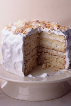 Recipes: Cake : Coconut on Pinterest | Coconut Cakes, Coconut and ...