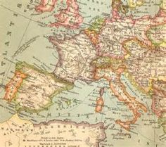 1905 Antique Dated Political Map of Europe