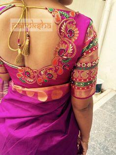 To order pls WhatsApp me to 91 7730891805 Silk Saree Blouse Designs, Bridal Blouse Designs, Blouse Neck Designs, Blouse Styles, Designer Blouse Patterns, Blouse Models, Bollywood, Amai, Beautiful Blouses