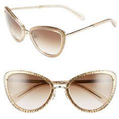 Women's Kate Spade New York 'Klaudia' 57Mm Cat Eye Sunglasses featur... Uv Contact Lenses, Kate Spade Glasses, Transparent Sunglasses, Glitter Glasses, Sunglasses Women Designer, Cat Eye Glasses, Kate Spade Handbags, Sunglasses Sale, Women's Accessories