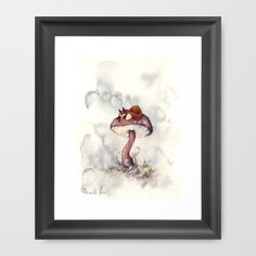 Sleeping Fox Framed Art Print by Melani Huggins - $37.00