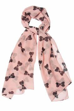 Cute black bow scarf
