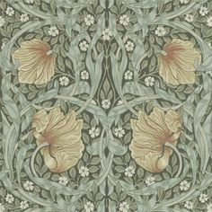 William Morris & Co Tapet Pimpernel Bayleaf/Manilla William Morris Wallpaper, Morris Wallpapers, William Morris Tapet, Fabric Wallpaper, Of Wallpaper, Designer Wallpaper, Wallpaper Designs, Cottage Wallpaper, Chinese Wallpaper