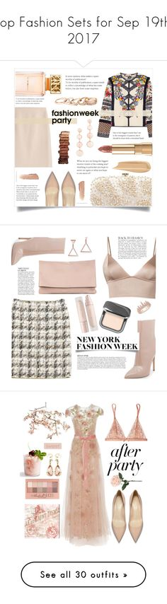 """""""Top Fashion Sets for Sep 19th, 2017"""" by polyvore ❤ liked on Polyvore featuring Tory Burch, Oscar de la Renta, Dolce&Gabbana, Rebecca Minkoff, GUESS, Urban Decay, Fleur du Mal, Louis Vuitton, Steve Madden and Sole Society"""