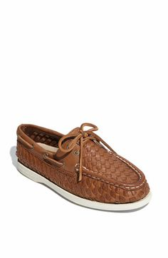 Sperry Top-Sider Leather Boat Shoe | Nordstrom -- still love this weave