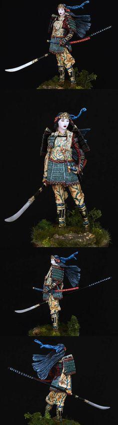 Female Samurai armed with Naginata                                                                                                                                                      More