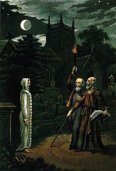 John Dee and Edward Kelley communicating with a spirit