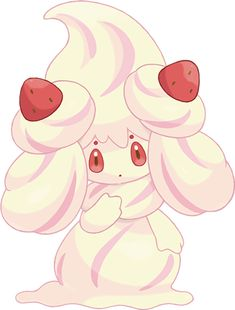View an image titled 'Alcremie Art' in our Pokémon Sword and Shield art gallery featuring official character designs, concept art, and promo pictures. Ponyta Pokemon, Pokemon Fairy, Pokemon Oc, Cute Pokemon, Pikachu, All 151 Pokemon, Pokemon Images, Pokemon Pictures, Nouveau Pokemon