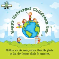 Established in Universal Children's Day is celebrated to improve Children's welfare & promote the importance of togetherness amongst the children worldwide. Children's Day Craft, Children's Day Activities, International Children's Day, Save The Children, Day Book, Child Day, Home Schooling, Happy Kids, Early Childhood