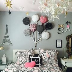 Black White And Aqua Girls Bedroom Kids Room Inspiration