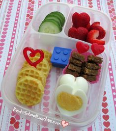 Valentine's Waffles Breakfast For Lunch