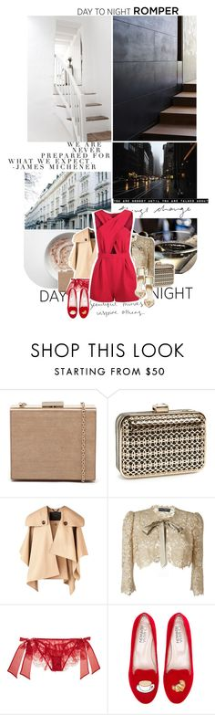 """""""let's try something new."""" by mademoiselledeea ❤ liked on Polyvore featuring Karl Lagerfeld, Natasha Couture, Burberry, Dolce&Gabbana, I.D. SARRIERI, Chiara Ferragni, Jimmy Choo, DayToNight and romper"""