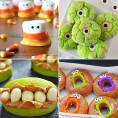 20 fun Halloween treats to make with your kids - these treats are easy enough for kids to have fun making. pretzel spiders mummy twinkles and more. Halloween Snacks, Halloween Food Crafts, Halloween Cupcakes, Easy Halloween, Holidays Halloween, Halloween Party, Halloween Backen, School Treats, Thanksgiving Crafts
