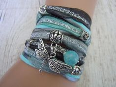 Hey, I found this really awesome Etsy listing at https://www.etsy.com/listing/185556048/dragonfly-bracelet-bohemian-ribbon-wrap