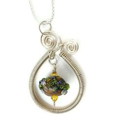 Sterling Silver and Lampwork Glass Pendant Heather Flowers Josephine Brooks Designs. $69.99. Lampwork beads are kiln annealed for strength and durability. Artist lampwork beads. .925 Sterling Silver