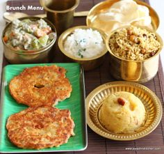 Weekend brunch menu - http://www.jeyashriskitchen.com/2014/02/south-indian-lunch-adai-aviyal.html