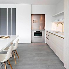 """526 Likes, 3 Comments - est (@est_living) on Instagram: """"INSPIRATION: An enduring kitchen inspiration here at est hq, this Bruges apartment designed by…"""""""