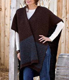Free Tunisian Ruana Pattern  Learn all about Tunisian stitches and patterns with this free collection.