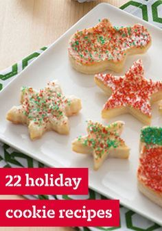 22 Holiday Cookies – With cookie varieties ranging  from Pecan Shortbread to Chocolate Almond Biscotti and more, we've got you covered with all the best holiday cookie recipes all in one place!